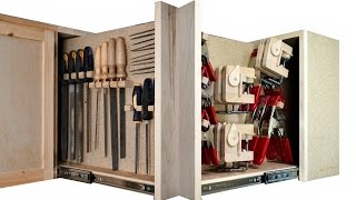 Making A Pullout Tool Board With SECRET COMPARTMENT!