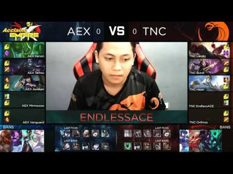 Pro Gaming Series 2017 Summer Split Week 5 Day 2 - AEX vs TNC Game 1/2