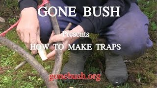 How to make leg hold traps.