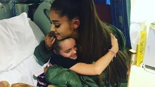 Ariana Grande visits victims at Manchester hospital