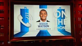 Clemson QB Deshaun Watson Talks NFL Draft & More - 4/21/17