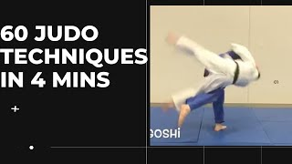 60 judo techniques in 4 minutes