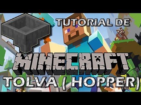 Minecraft: Tutorial de Tolva (Hopper)   #StickProGames en español