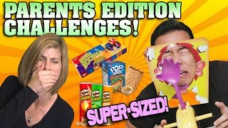 PARENTS EDITION CHALLENGES!!! 1 Hour Mega Compilation! [SUPER SIZE ME WEEK]