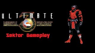 [FULLGAME / MUGEN Gameplay] Ultimate Mortal Kombat 3 -Sektor Gameplay-