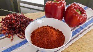 Paprika Powder Recipe - Homemade Paprika Powder - One Ingredient Recipe
