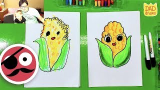 How To Draw Funny Cartoon Corn