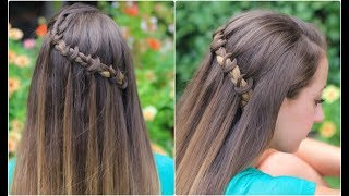 Knotted Waterfall Braid | Cute Girls Hairstyles