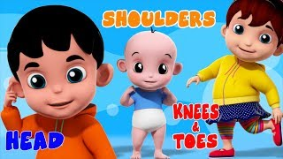 Head Shoulder Knees | Nursery Rhymes With Junior Squad | Song And Video For Toddlers by Kids Tv