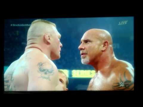 Bill Goldberg vs Brock Lesnar WWE Survivor Series 11 20 2016