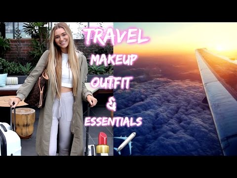 Airplane Travel Makeup Outfit Ideas & My Carry On Essentials