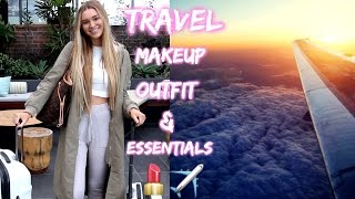 Airplane/Travel Makeup, Outfit Ideas & My Carry On Essentials!