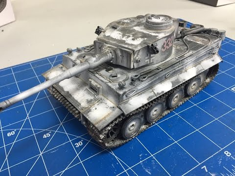 Building and weathering The Tamiya 1 35 Tiger 1 with snow camouflage