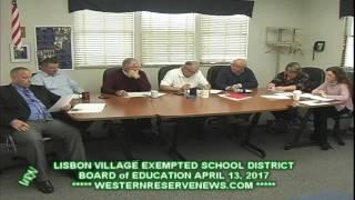 LISBON EXEMPTED SCHOOLS APRIL 2017  BOARD OF EDUCATION MEETING