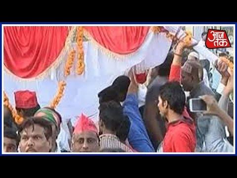 UP Ke Dil Mein Kya Hai: Akhilesh Yadav-Rahul Gandhi's Stage Collapses In Allahabad