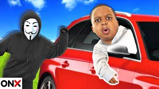 ONYX FAMILY CAR RACE Searching for Our Hidden Dad, Top Secret Message From Clue Master