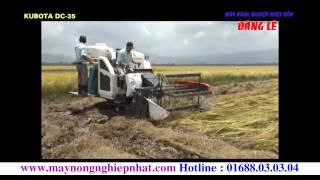 Giới thiệu máy gặt đập lúa liên hợp liên hoàn KUBOTA DC-35 Maynongnghiepnhat.com Liên hệ 01688030304