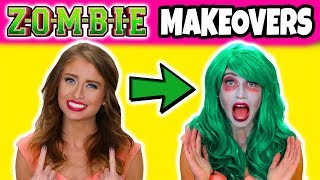 We Get 3 Zombie Makeovers Like the Disney Zombies Movie. (Which Makeover Do You Like Best?)