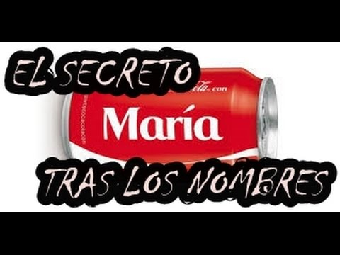 El secreto de los nombres en las botellas de cocacola