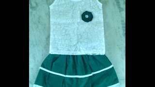 kids skirt top cutting and stitching in hindi