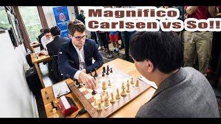 Magnífico MAGNUS CARLSEN VS  WESLEY SO, SINQUEFIELD CUP 2017