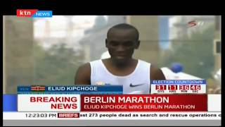 BREAKING NEWS: Eliud Kipchoge wins the Berlin Marathon 2017