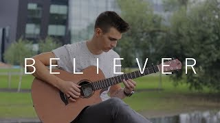 Believer - Imagine Dragons (Fingerstyle Guitar Cover by Vadim Kobal) FREE TABS