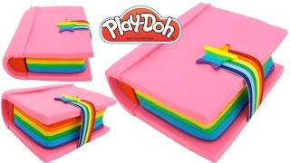 Play-Doh How to Make a Rainbow Color Book * Play Dough Art * Fun Creative For Kids * RainbowLearning