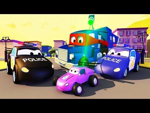 CARL the SUPER TRUCK is the POLICE TRUCKS in CAR CITY | TRUCKS CARTOON for KIDS