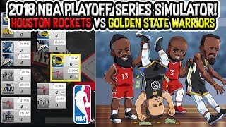 Houston Rockets vs Golden State Warriors! 2018 NBA Playoff Series Simulator