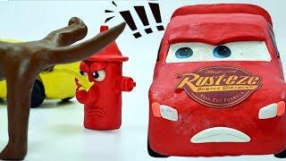 Jackson Storm Prank Lightning McQueen & Cruz Ramirez Dog Pees & Bird poop Cars 3 PLAY-DOH StopMotion