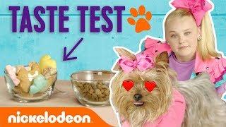 JoJo Siwa Treats BowBow to Doggie Treat Taste Test 🐾🍦 | Nick