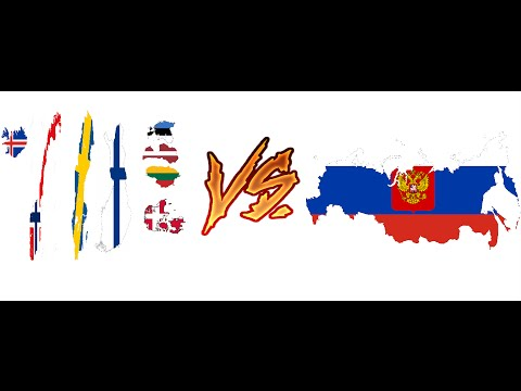 Russia vs Scandinavia and Baltic states war simulation.