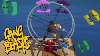 GANG BEASTS - Ferris Wheel Accident [Father and Son Gameplay]
