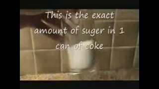 كمية السكر الموجود في المشروبات الغازية