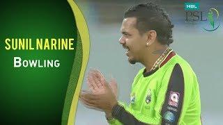 PSL 2017 Match 18: Karachi Kings vs Lahore Qalandars - Sunil Narine Bowling