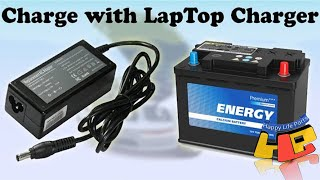 Charge Your Car Battery with Laptop Charger