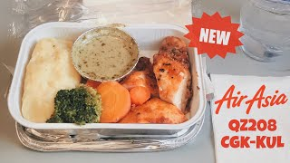 AirAsia New Inflight Meal | QZ208 Flight Experience | Roasted Chicken with Pesto Cream Sauce