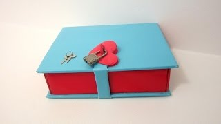 How to make a Book Box with  a Lock |