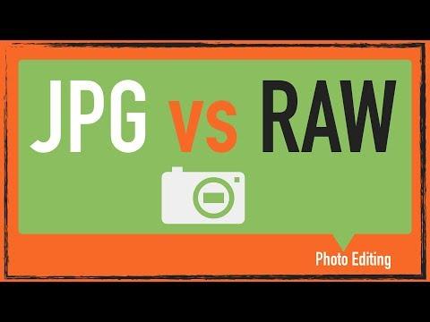 Raw vs. jpg photos