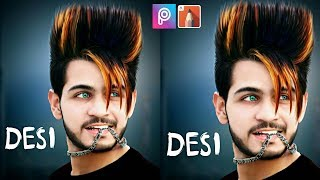 PicsArt Stylish Editing / Hairstyle Change /Face Glow | Picsart and Autodesk sketchbook Editing