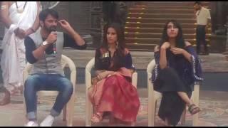 Barun Sobti,  Shivani Tomar And Gul Khan giving their bytes at Iss Pyaar Ko Kya Naam Doon 3 Launch