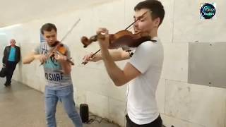 Amazing Roadside Violin Player in Russia 2018 During World cup Football Coverage |