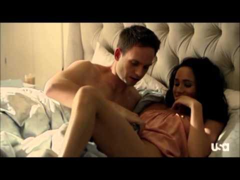 Suits 3x01 Mike & Rachel Bed Scene