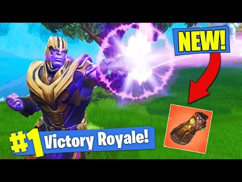 NEW THANOS GAMEPLAY & GAUNTLET In Fortnite Battle Royale