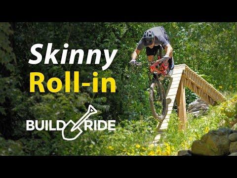 Backyard MTB Drop with Steep Roll in Build & Ride