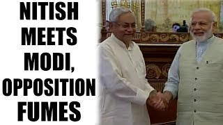 Nitish Kumar meets PM Modi in Delhi for lunch, opposition fumes | Oneindia News