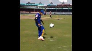Mushfiqur Rahim's freestyle football skills