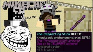 OP knockback stick LEVEL 32767! || Minecraft Commands || Minecraft Knockback 10000