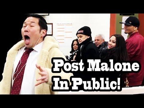 SINGING IN PUBLIC - POST MALONE Rockstar